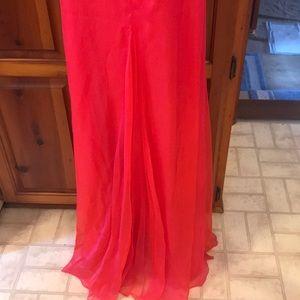 Dresses - Lenz Melon Strapless Gown- NWT